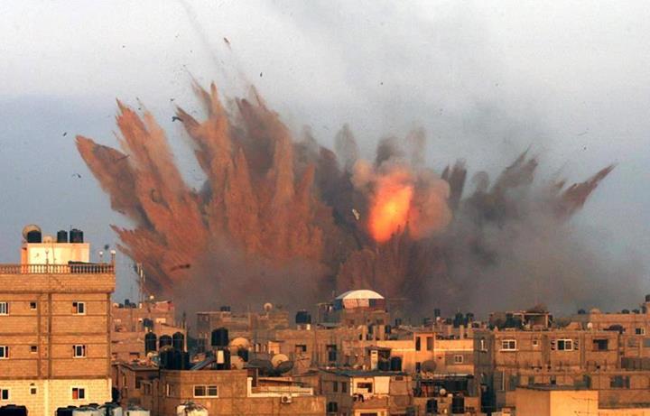 11 juillet 2014 Bombardement israélien sur Gaza