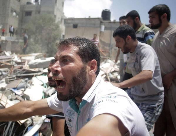 12 juillet 2014 Effroi et fureur populaires après un bombardement sur Rafah