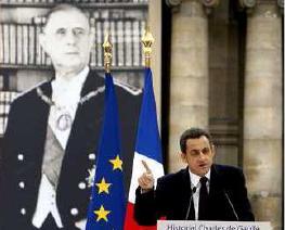 Discours de Nicolas Sarkozy Historial Le Général de Gaulle