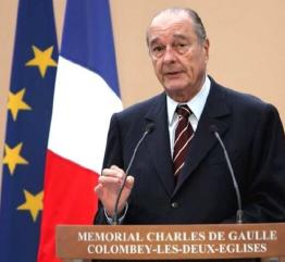 Jacques Chirac à Colombey-les-Deux-Eglises sur Le Général de Gaulle