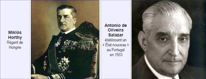 Miklos Horthy - Antonio de Oilveira Salazar