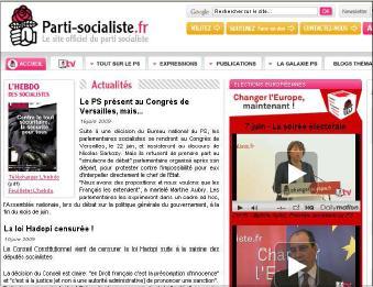 Site internet PS élections européennes