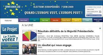 Site internet UMP élections européennes