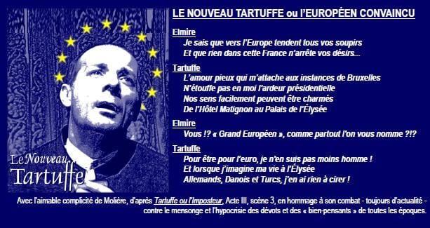 Le nouveau Tartuffe ou l'européen convaincu
