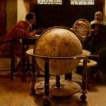 Ce tableau du XIXe siècle représente de façon romantique Galilée (1564 - 1642) exposant les observations de Copernic prouvant que c'est la Terre qui tourne autour du soleil et non l'inverse.