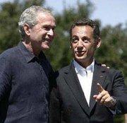 Sarkozy et son ami GW Bush