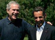 Nicolas Sarkozy et George W. Bush