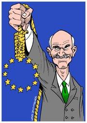 le Premier ministre Papandreou