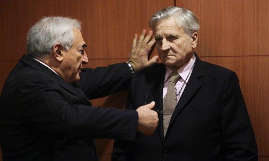 Trichet et Strauss-Kahn