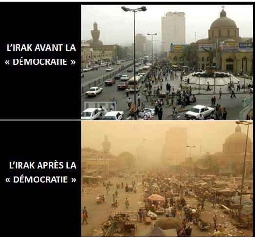 L'Irak avant et après la démocratie, site de lUpr