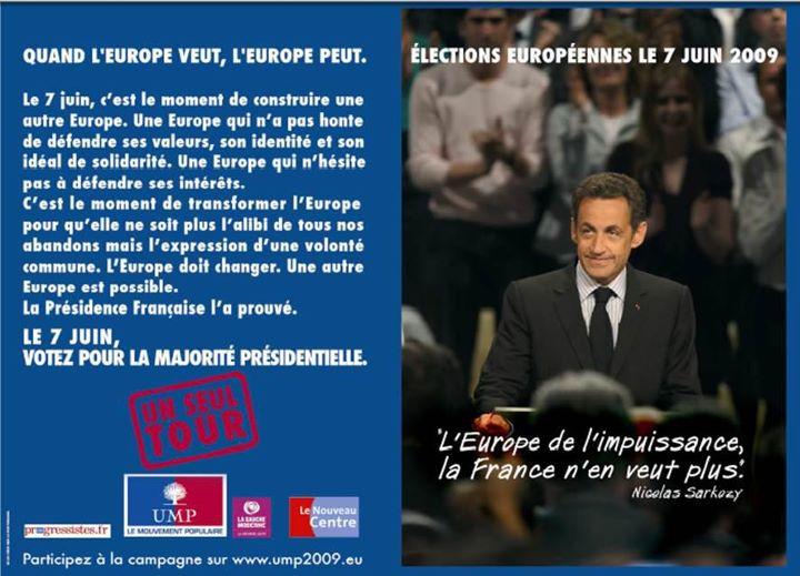 europe sarkozy 2 Recette pour neutraliser la colère des Français : la promesse de lAutre Europe depuis un tiers de siècle