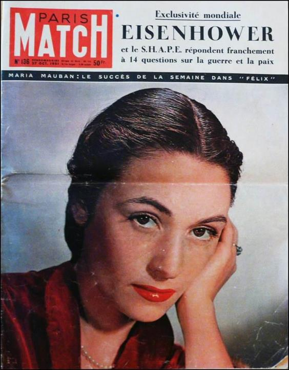 Paris-Match n°136 du 27 octobre 1951 - Une de couverture