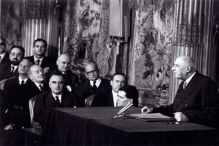 conference de gaulle Le mythe du couple franco allemand   Traité de lElysée