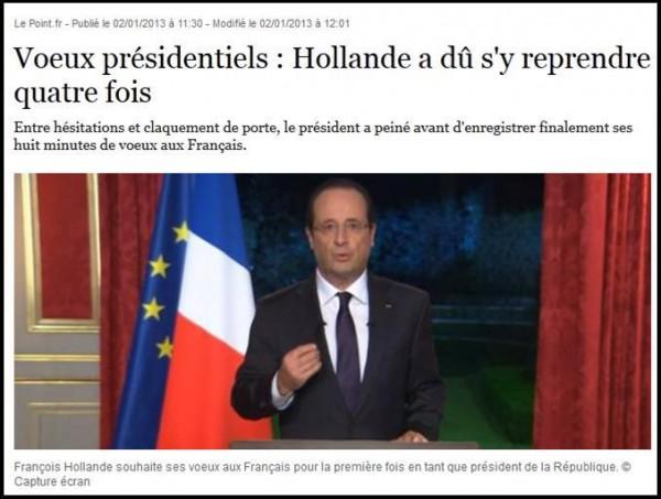Magazine Le Point du 2 janvier 2013