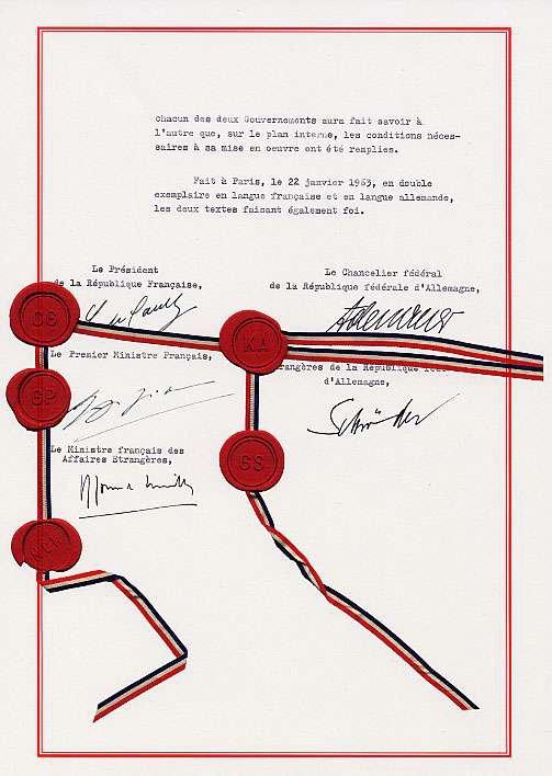 traite de elysee 1963 Le mythe du couple franco allemand   Traité de lElysée