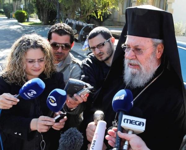 """Sa Béatitude Chrysostome II. Son prénom de règne signifie « bouche d'or » en grec (""""Chrysos"""" = or ; """"Stoma"""" = bouche)"""