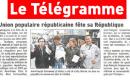 À l'occasion de l'anniversaire de la République, l'UPR du Finistère fait parler d'elle dans le journal quotidien «Le Télégramme»