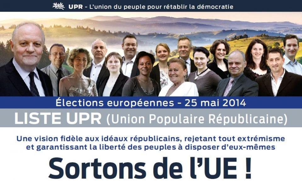 Pourquoi l'UPR va présenter des listes aux européennes 2014