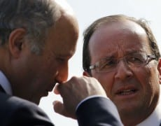 Francois-Hollande-et-Laurent-Fabius