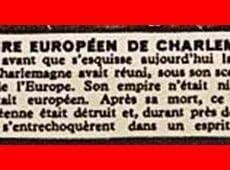 L'agrandissement d'un détail de la carte postale permet de prendre connaissance du discours officiel des autorités d'Occupation nazies en France en 1942