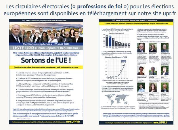notre profession de foi pour les 7 circonscriptions de France métropolitaine