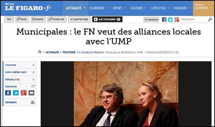 le FN veut des alliances locales avec l'UMP