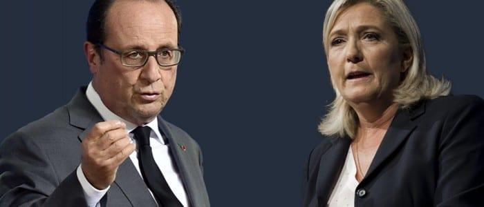 François Hollande et Marine Le Pen