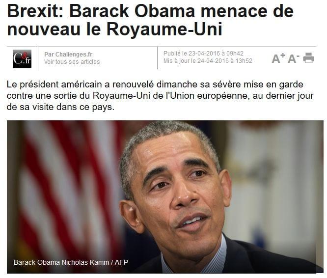 Brexit-Obama