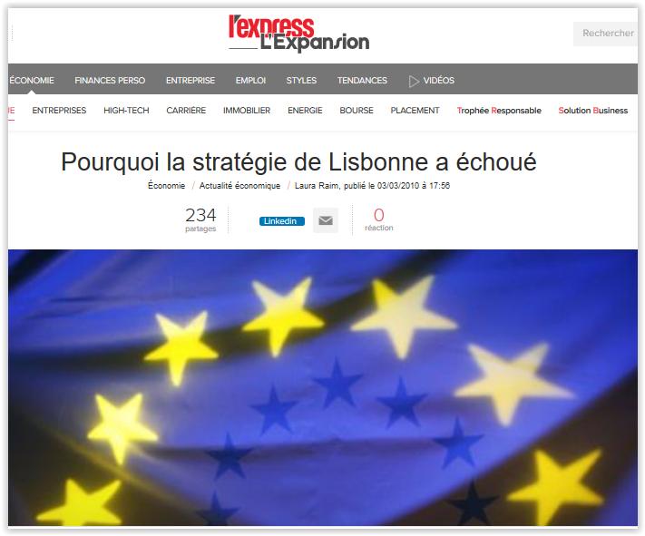 Expansion dresse la nécrologie de la prétendue Stratégie de Lisbonne