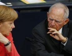 Angela Merkel et Wolfgang Schäuble dileme euro,
