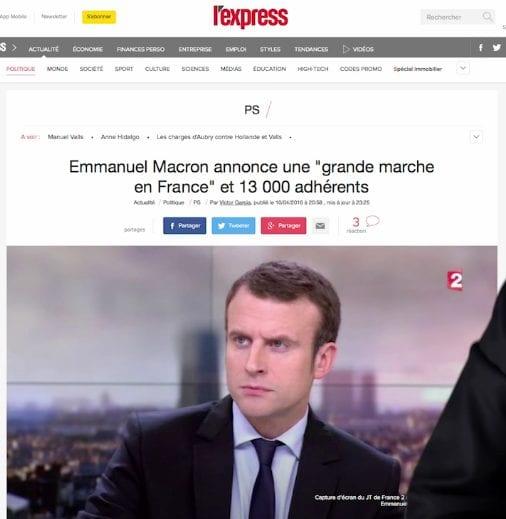 macron mensonge nombre adherents en marche