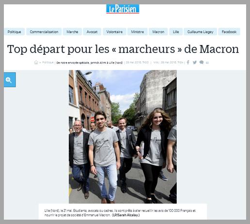 """Encore une affabulation de plus : tous les grands médias nous ont annoncé, fin mai 2016, que la France allait être sillonnée par des milliers de """"marcheurs"""" de Macron. Qui en a vu un seul ?!?"""