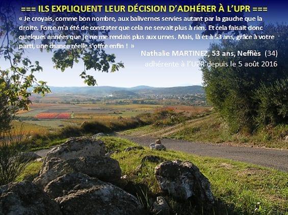 temoignages adherent UPR-1