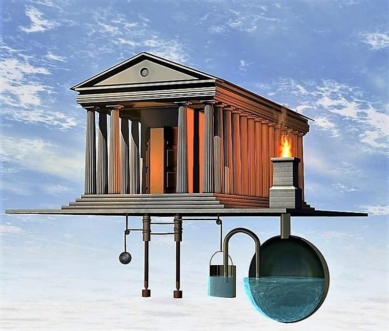 Les portes automatiques du temple d'Heron d'Alexandrie