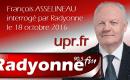 François Asselineau interrogé par la radio «Radyonne» pour dresser le bilan de l'université de l'UPR 2016