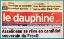 À l'occasion des réunions publiques tenues à Risoul (05) et Manosque (04), LE DAUPHINÉ LIBÉRÉ consacre un long article à la CANDIDATURE DE FRANÇOIS ASSELINEAU À L'ÉLECTION PRÉSIDENTIELLE.