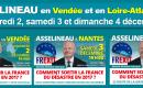 François Asselineau en tournée de réunions publiques en Vendée et en Loire-Atlantique les 2, 3 et 4 décembre 2016
