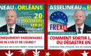 Les 2 dernières réunions publiques de François Asselineau en 2016 auront lieu à ORLÉANS (45) le 20 décembre et VILLABÉ (91) le 22 décembre