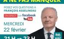 François Asselineau en direct sur YouTube et Facebook