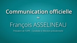Communiqué de presse : François Asselineau demande aux 5 candidats à l'élection présidentielle invités à débattre par TF1, le 20 mars, d'annuler leur venue à cette émission.