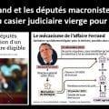 == « EN MARCHE » ARRIÈRE ! == Sur un signal envoyé par Richard Ferrand, la majorité macroniste à l'Assemblée nationale rejette l'obligation de casier judiciaire vierge pour être éligible.
