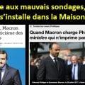 FACE AUX MAUVAIS SONDAGES, LA DISCORDE S'INSTALLE DANS LA MAISON MACRON == Macron rend responsables ses députés, ses ministres et le Premier ministre de l'effondrement vertigineux de sa popularité,… mais pas lui !