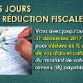 Derniers jours pour déduire 66% de vos adhésions, dons et cotisations à l'UPR du montant de votre impôt sur le revenu 2018.