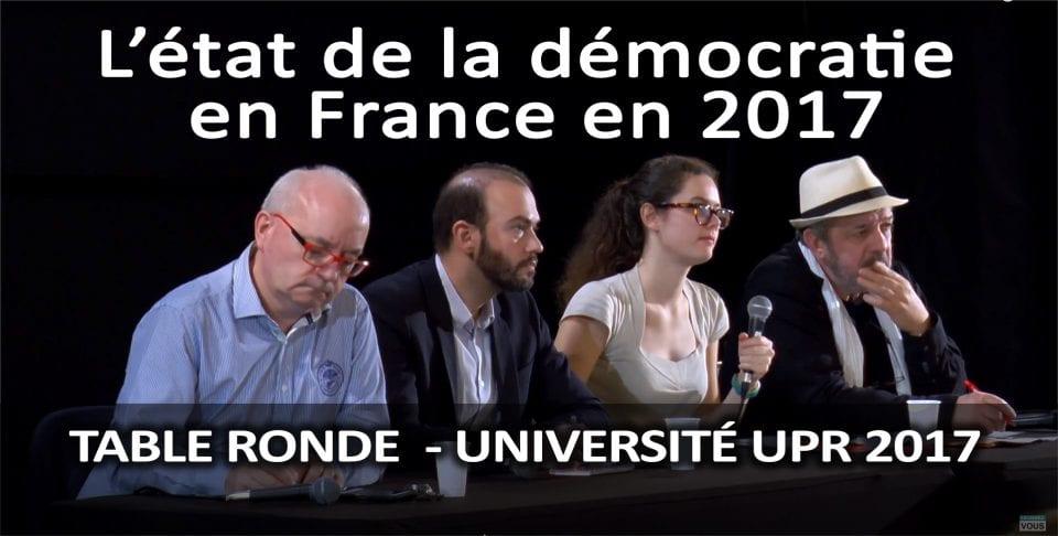 L'état de la démocratie en France en 2017 – 1ère table ronde