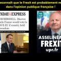 =COMMUNIQUÉ DE PRESSE= Macron ayant déclaré sur la BBC que le «Frexit» est majoritaire parmi les électeurs français, l'UPR lui demande de cesser ses «initiatives européennes» illégitimes et de respecter la démocratie en organisant un référendum sur la sortie de l'UE.