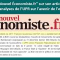 Réponse au journaliste Jean-Michel Lamy du «Nouvel Économiste.fr» sur son article concernant les analyses de l'UPR sur l'avenir de l'euro