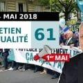 ENTRETIEN N°61 – Manif 1er mai – Zone euro – Les deux Corées – Macron – Siège UPR – Reçus Fiscaux