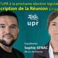 FABIEN DIJOUX et SOPHIE SENAC représenteront l'UPR dans la prochaine élection législative partielle de la Réunion (7e circonscription).