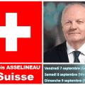 FRANÇOIS ASSELINEAU EN SUISSE : Conférences à Genève (7 septembre), Morges (8 septembre) et Neuchâtel (9 septembre)