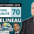 EA70 : Rentrée des politiques – Macron et Mélenchon – Nyssen – Boutique de l'Élysée – Hongrie